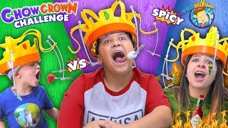 CHOW CROWN CHALLENGE! w/ Hot Sauce Edition (FUNnel Family Challenge Vision)