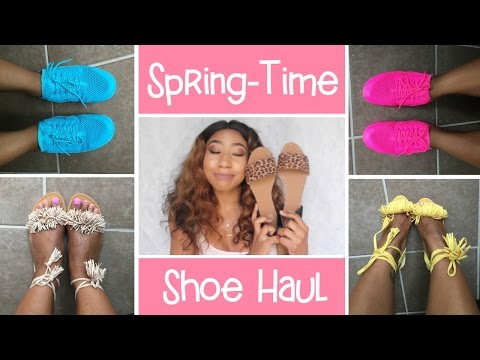 ♡ Shoe Haul   Pink Nike Huraches • Yellow Fringes • Floral Sandals ♡