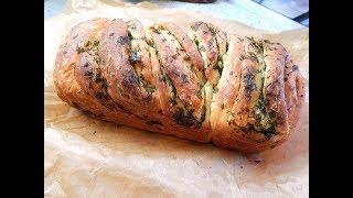 Все просят рецепт! Домашний хлеб с чесноком и зеленью.