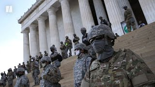 Soldiers Guard Lincoln Memorial From Peaceful Protesters