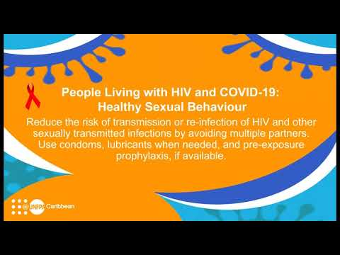 #COVID19: AUDIO message on People Living with HIV from UNFPA Caribbean : Healthy Sexual Behaviour