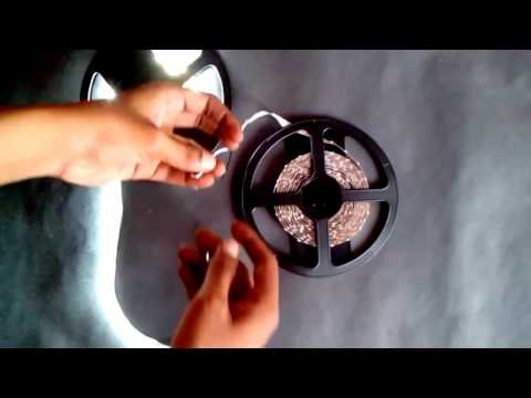 White 3528 SMD LED Strip Light Non-Waterproof 12V ( Testing live )