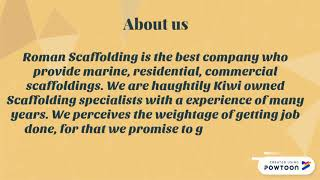 We are the Well Known Auckland Scaffolding Company