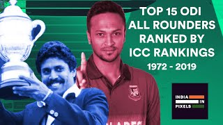 Top 15 ODI All Rounders Ranked By ICC Rankings (1972 - 2019)