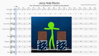 """Jazzy Note Blocks"" Sheet Music (& Piano Jam by Aaron Grooves)"