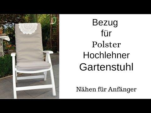 Bezug für Hochlehner Polster Gartenstuhl nähen für Anfänger