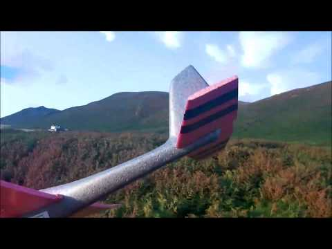 lidl-xl-glider-on--rhossili-beach-at-sunset-on-a-windy-evening