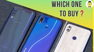 Realme 3 Pro vs Redmi Note 7 Pro vs Samsung Galaxy A50: Which phone to buy? Ep. 2