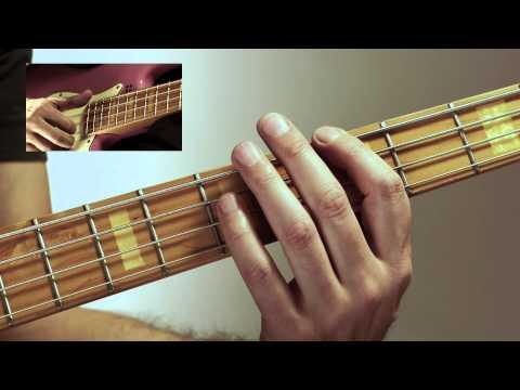 Beginning Slap Bass DVD excerpt - Easy slap bass in A