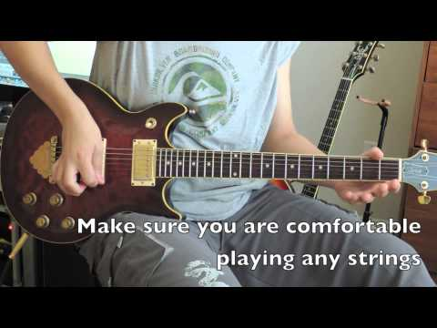 Electric Guitar For Beginners: How to position your right hand on the guitar