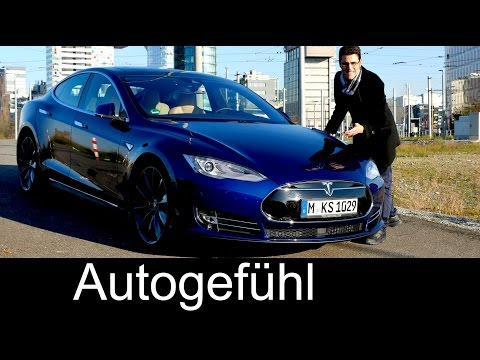 New Tesla Model S p90D insane speed FULL REVIEW test driven & Autopilot autonomous drive Neuer