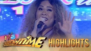 It's Showtime Miss Q and A: Vice and Anne laugh when Miss Q & A contestant impersonates Mariah Carey