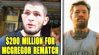 Khabib OFFERED $200 Million for Conor McGregor rematch and Floyd Mayweather, Ronda Rousey UFC return