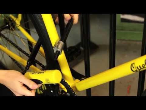 Wie du dein Fahrrad mit einem Kryptonite Bügelschloss abschließt