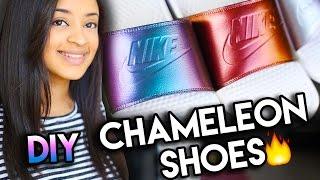 How To: Chameleon Chrome Color Shifting Shoes | Full Nike Slide Custom Tutorial