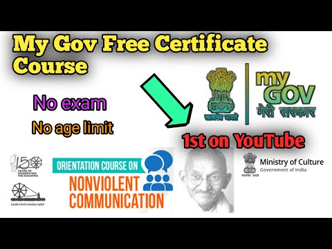 Mygov Free certificate course   Anyone can enroll  Orientation ...