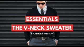 The V-Neck Sweater - Men's Wardrobe Essentials - Gray, Navy, Charcoal vneck
