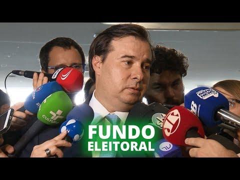 Rodrigo Maia comenta novas regras para fundo eleitoral