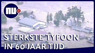 Ravage en overstromingen in Japan door tyfoon Hagibis | NU nl