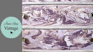 Paint Pour With Chalk Paint On A Dresser