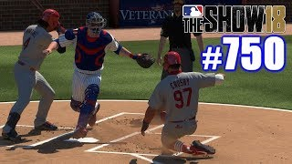 STRAIGHT STEAL OF HOME AGAINST OUR RIVALS! | MLB The Show 18 | Road to the Show #750