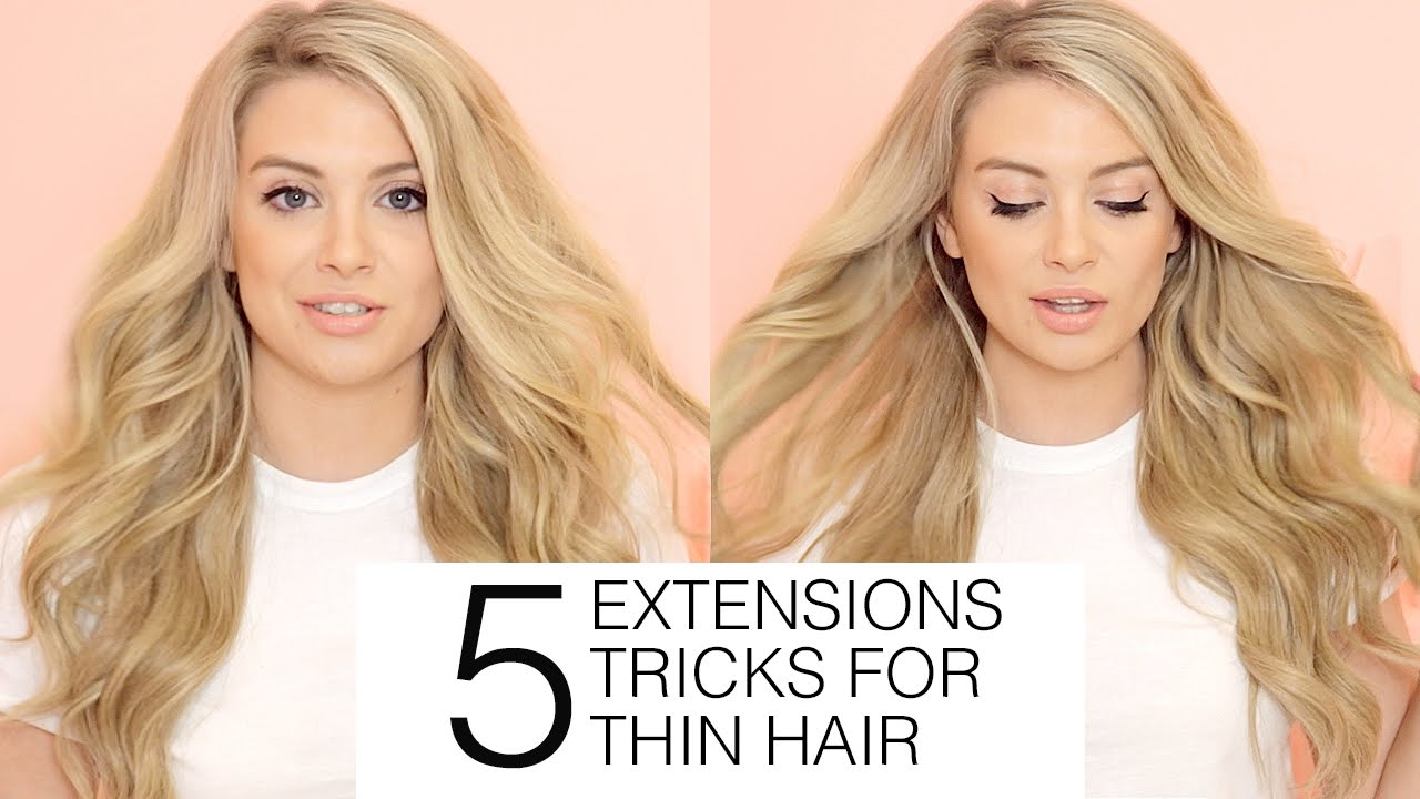 5 hair extensions tricks for thin hair hair extensions blog hair youtube video preview solutioingenieria Image collections