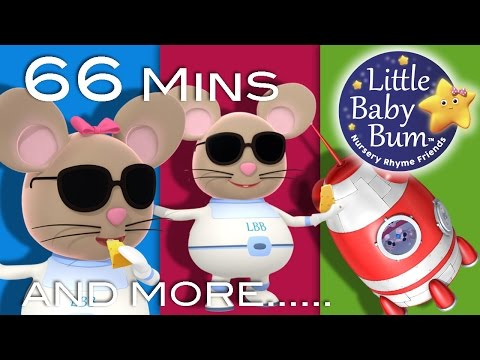 Three Blind Mice | Plus Lots More Nursery Rhymes | 66 Minutes Compilation From LittleBabyBum! Mp3