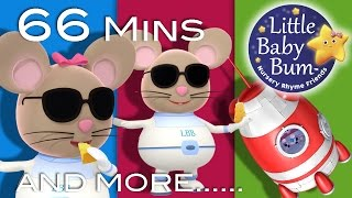 Three Blind Mice | Plus Lots More Nursery Rhymes | 66 Minutes Compilation from LittleBabyBum!