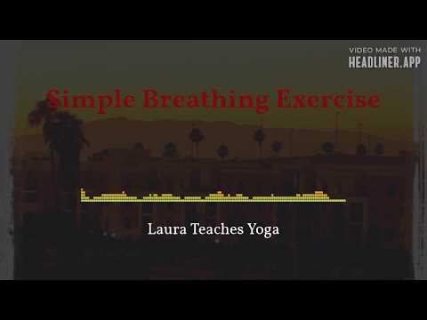 A simple breathing exercise that can help you relax and reduce stress. Great for those new to meditation.