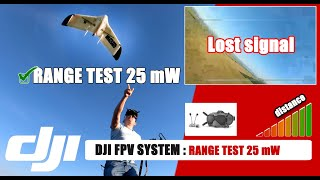 ✔️ DJI FPV System : Video Test Range N°1 - 25 mw - Stock Antenna