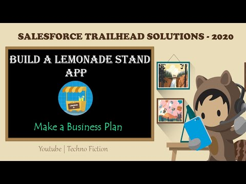 , title : 'Trailhead Solutions | Make a Business Plan | Build a Lemonade Stand App | Techno Fiction