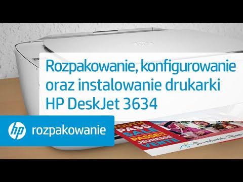 Rozpakowanie, konfigurowanie oraz instalowanie drukarki HP DeskJet 3634