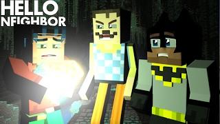 Minecraft Hello Neighbor - Neighbor BLACKMAILS Batman and Robin