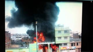 preview picture of video 'Incendio en bogota  Av. Cali #68-18'