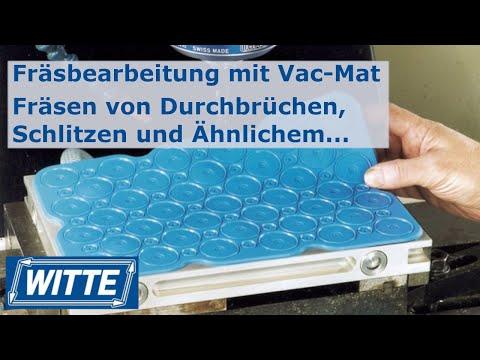 Fräsbearbeitung mit Vac-Mat Vakuum Spannplatte