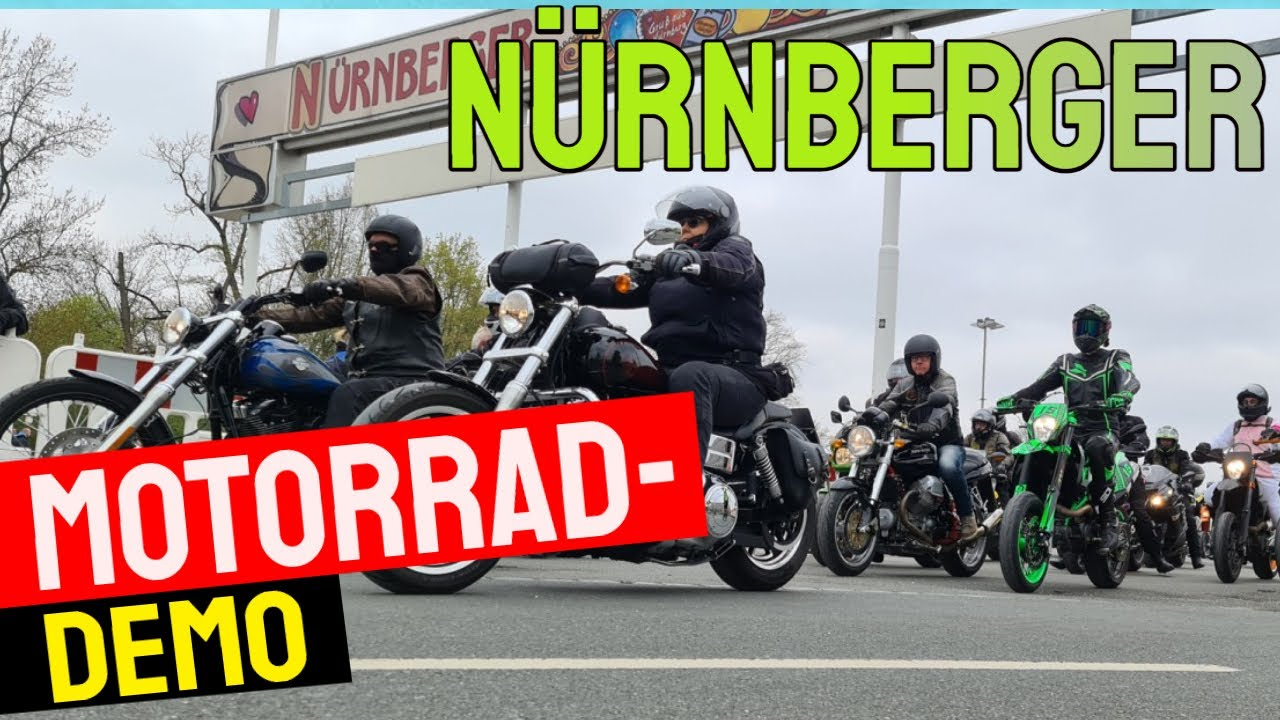 Motorrad-Demo in Nürnberg - Bericht
