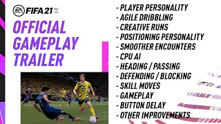 FIFA 21 Official Gameplay Trailer [MY REACTION] - New Info / No Shushing / Improved Skill Moves