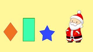 Учим геометрические фигуры с Дедушкой Морозом. Новогодние Мультфильмы.