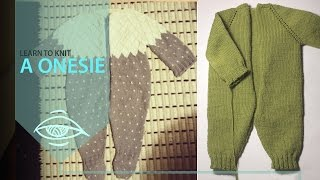 How To Knit A Onesie | Yoke (part 1)