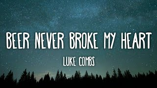 Luke Combs   Beer Never Broke My Heart (Lyrics)