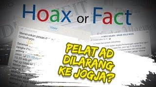 Hoax or Fact: Viral Pesan Berantai Kendaraan Plat AD Dilarang Masuk Yogyakarta