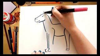 Como dibujar un Caballo - dibujos para niños