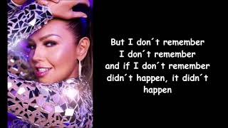 Thalia ft. Natti Natasha - No me acuerdo letra/english lyrics