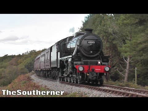 LMS Black 5 45212 on the Swanage Railway with Steam Dreams '…