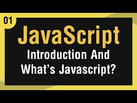 تعلم لغة JavaScript القائمة #1 الفديو #1