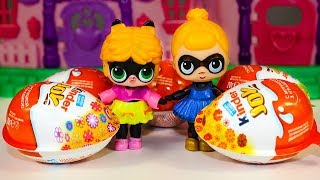 Видео для детей Куклы ЛОЛ и Киндер Сюрпризы Игрушки Сюрпризы LOL Surprise Dolls