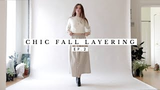 Chic Fall Outfits Layering Ideas Ep. 2 | Dearly Bethany