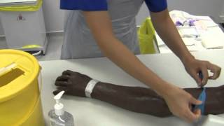 Aseptic cannulation demonstration