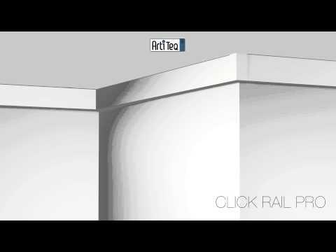 Монтаж галерейной системы Click Rail PRO