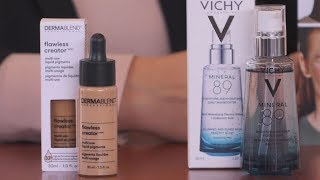 How to Use Dermablend Flawless Creator with Vichy Mineral 89